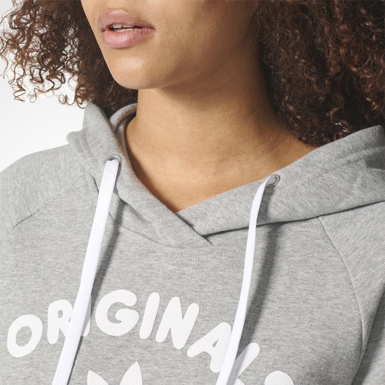 Adidas Originals Hooded Sweat W (Medium Grey Heather)