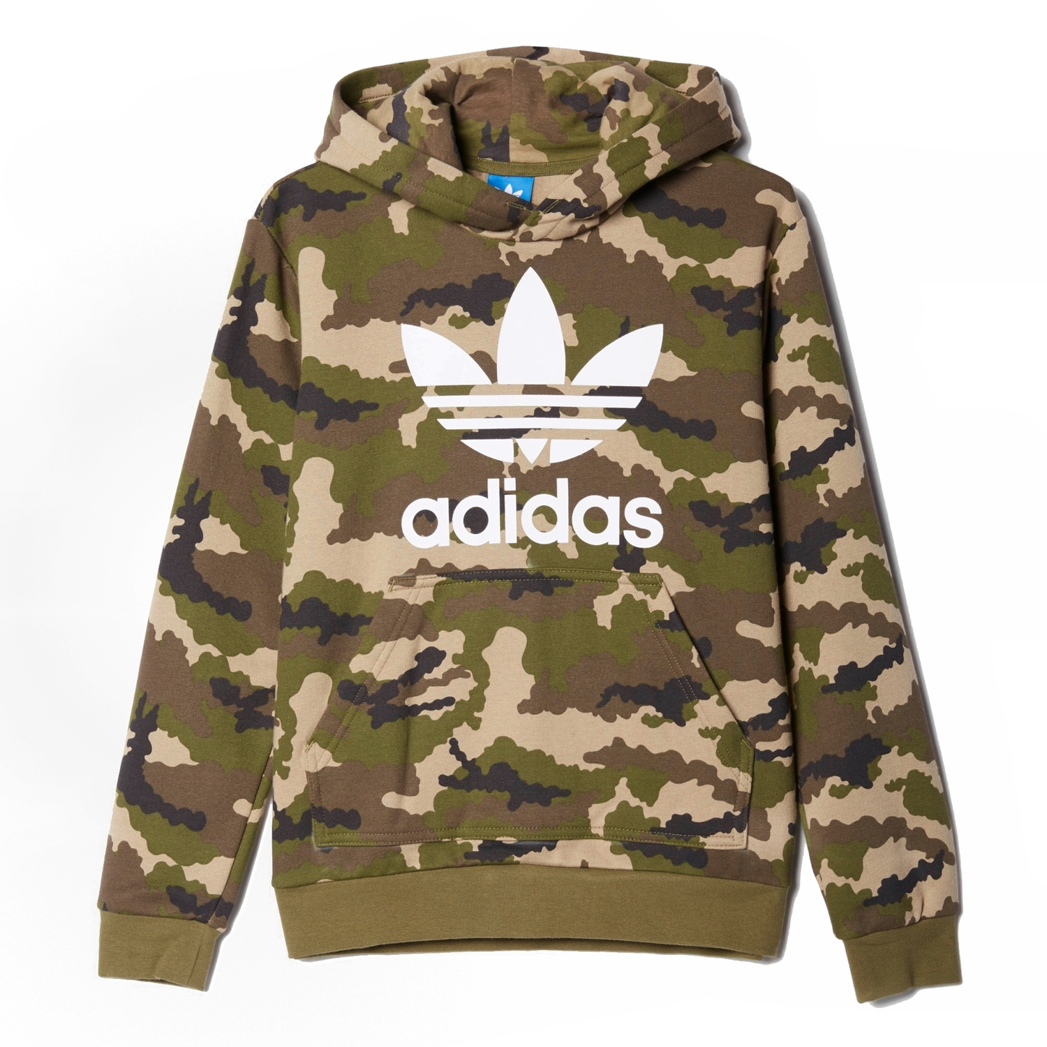 official photos c83ff 13327 Adidas Originals Junior Sudadera FR Trefoil Logo (camuflaje)