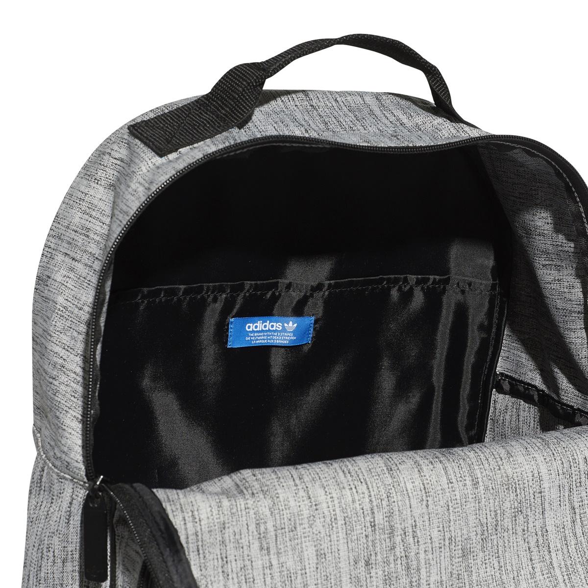Adidas Originals Mochila Classic Casual Trefoil Grey Black 03428436f6732