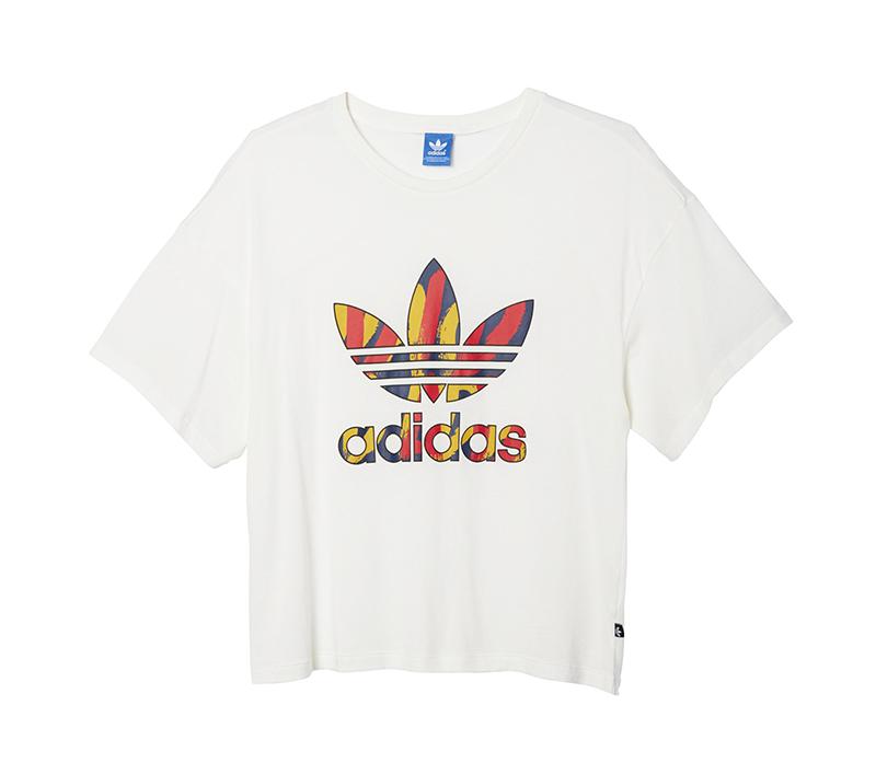 Adidas Originals Mujer Camiseta Paris Logo Trefoil (blanco)