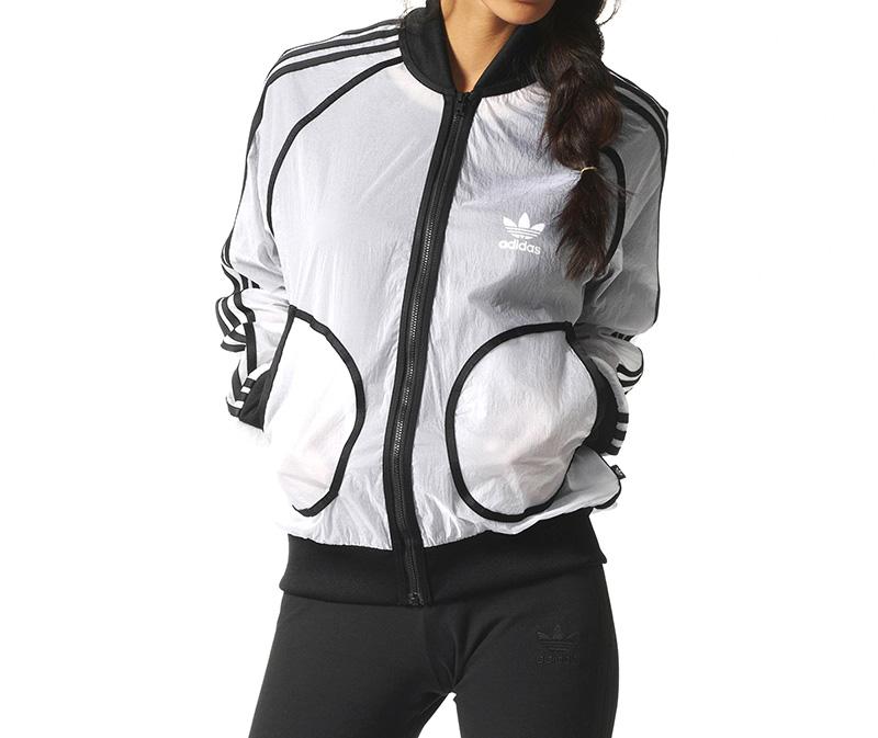 Adidas Originals Mujer Transparent Circus Winbreaker By Rita Ora (blanco) 742c932141
