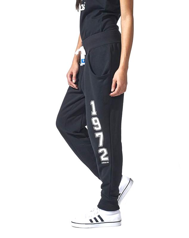 Adidas Originals Pantalon Mujer Logo Essentials Baggy Negro Bla