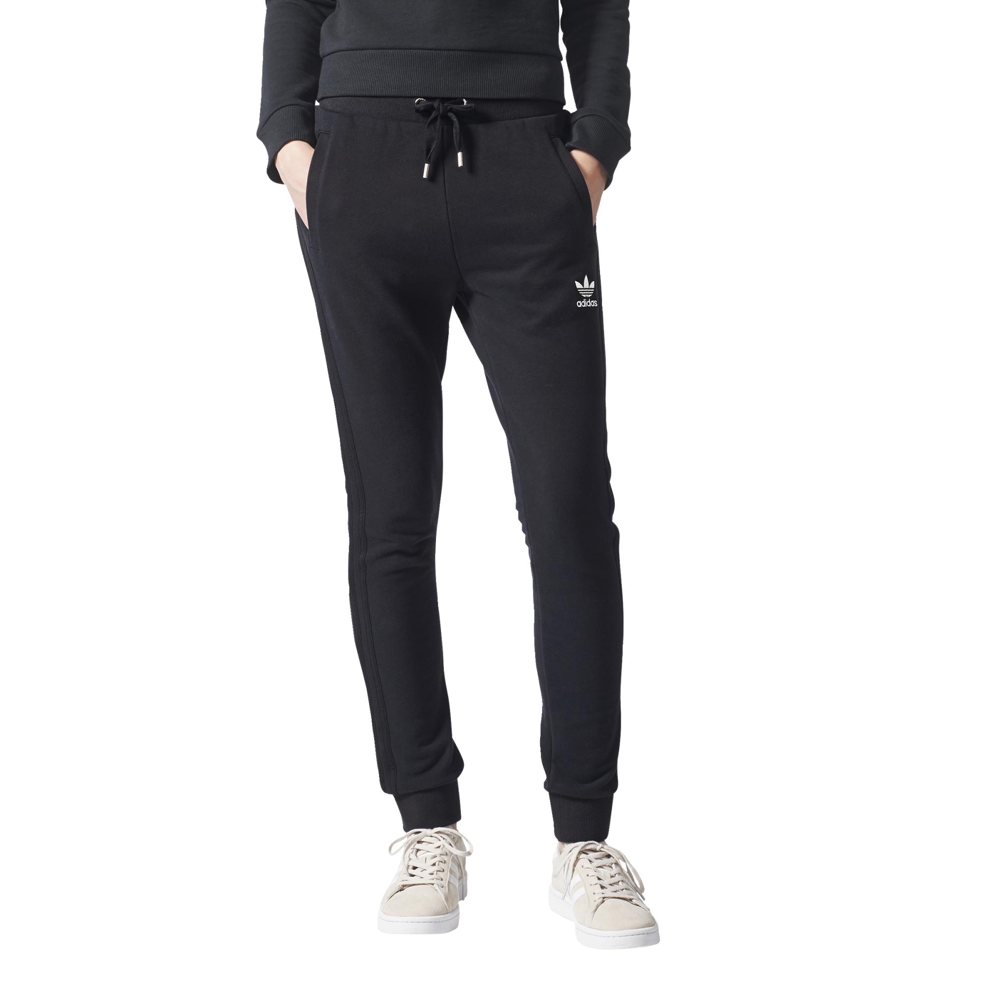fda31a177e8 Adidas Originals Cuffed Slim black Track Pants n4ZUn --mamba ...