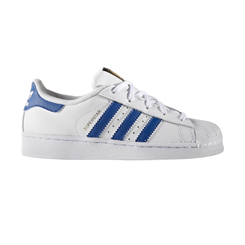 adidas superstar blancos con azul