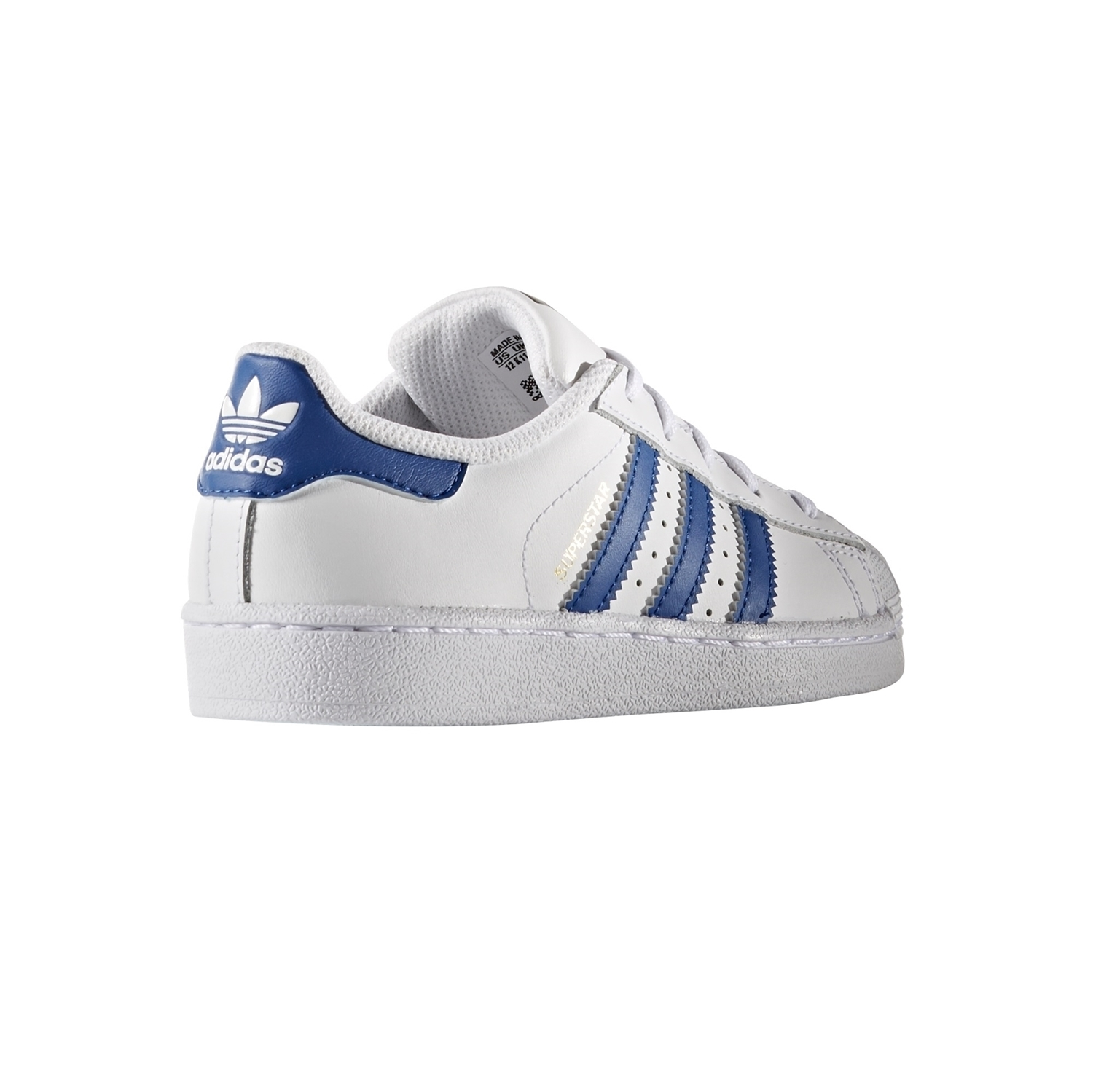 low priced 133f7 cdf72 Adidas Originals Superstar Foundation Junior (blanco azul oro)