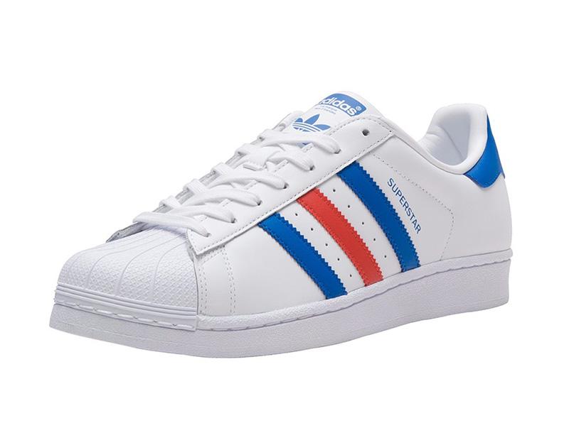 huge discount 40156 dbcc2 Adidas Originals Superstar Foundation (White Blue Red)
