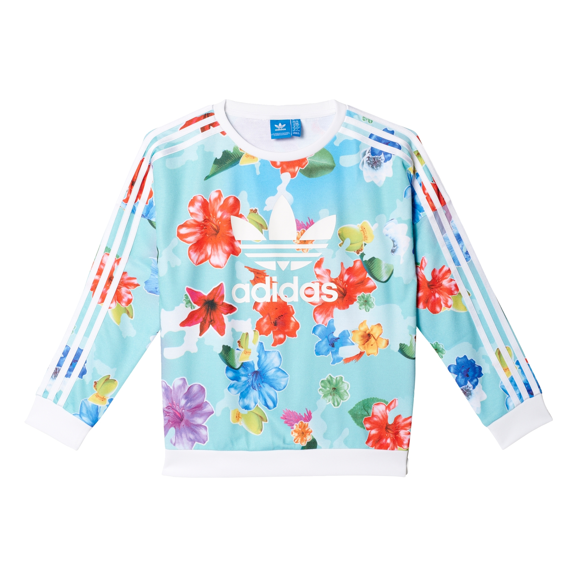 best loved 4fdd1 e295a Adidas Originals Trefoil Flower Crew AOP J (multicolor white)