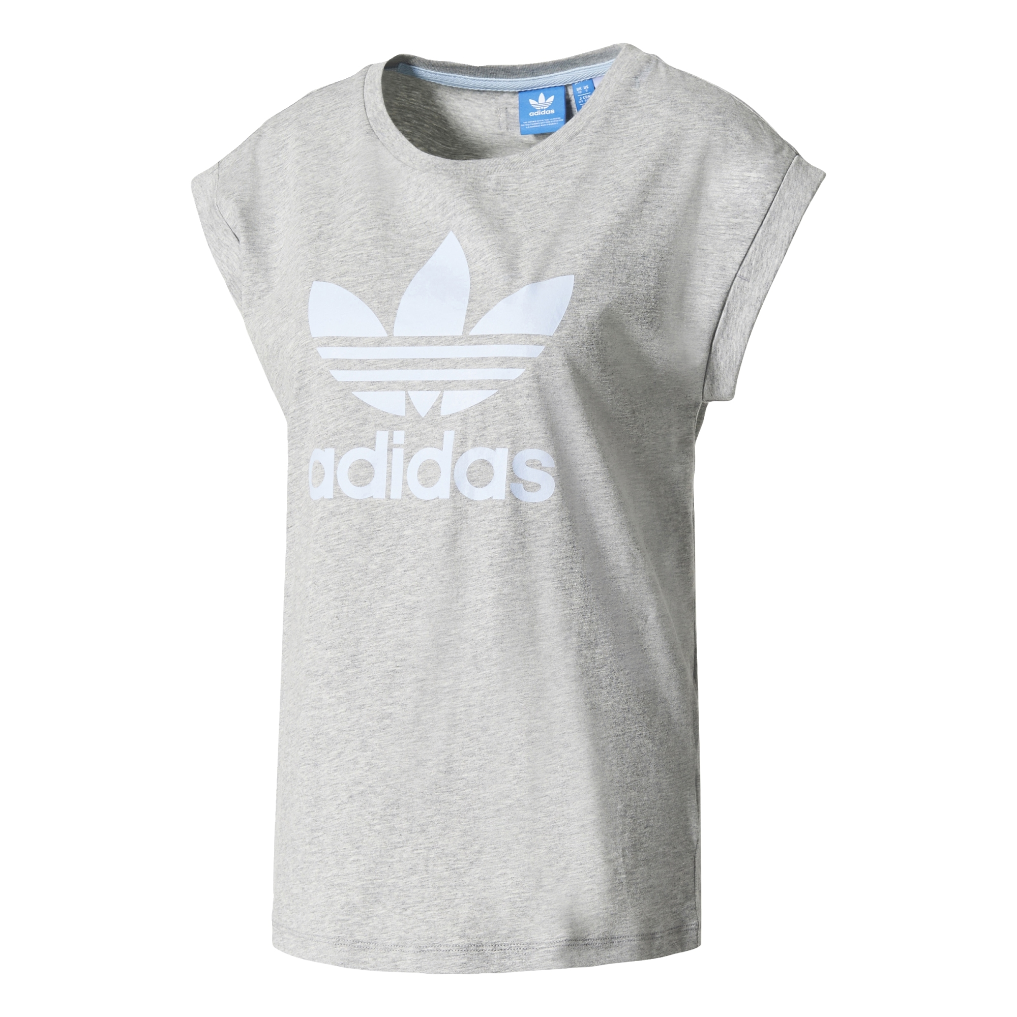 Adidas Originals W Boyfriend Roll-Up Tee (medium grey heather) 52bb180021712