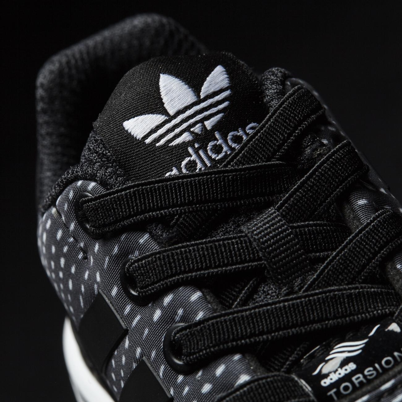 detailed look 2f267 1d174 ... Adidas Originals ZX Flux EL Infant (core black core black ftwr white),  ...