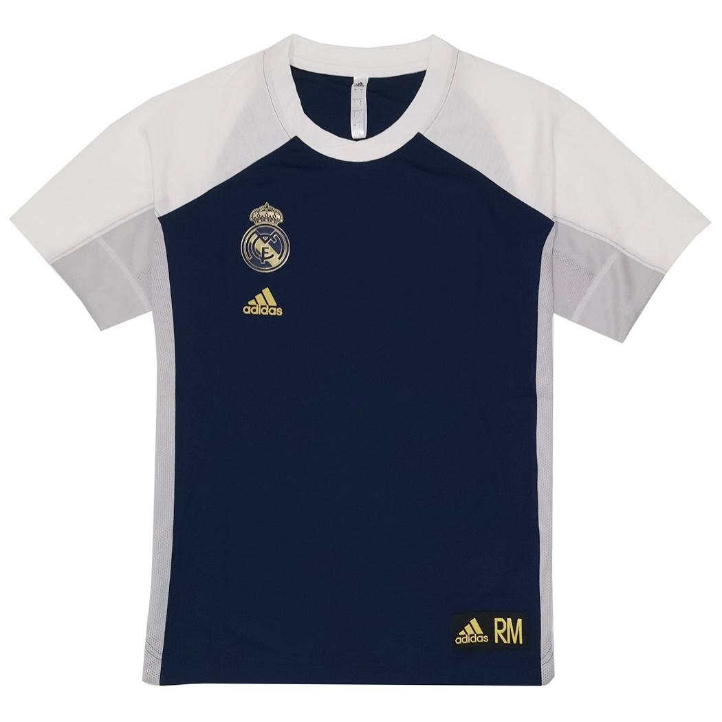 pulcro brillo de color gran inventario Adidas Real Madrid S/S Shooter Jersey 2019/2019 (night indigo)