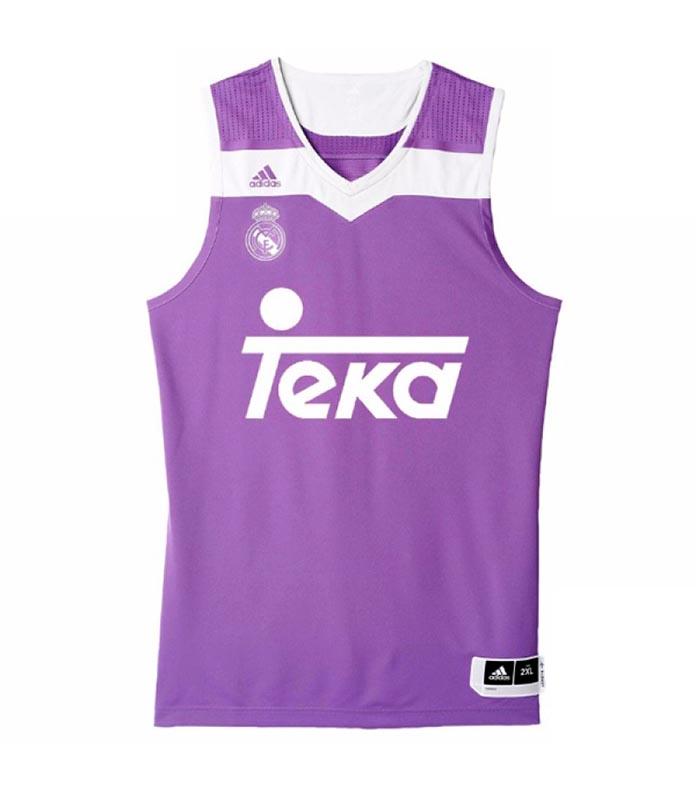 Camiseta Basket 2ª Equipacion R. Madrid 2016 17  20  Carroll 9647510e490f8