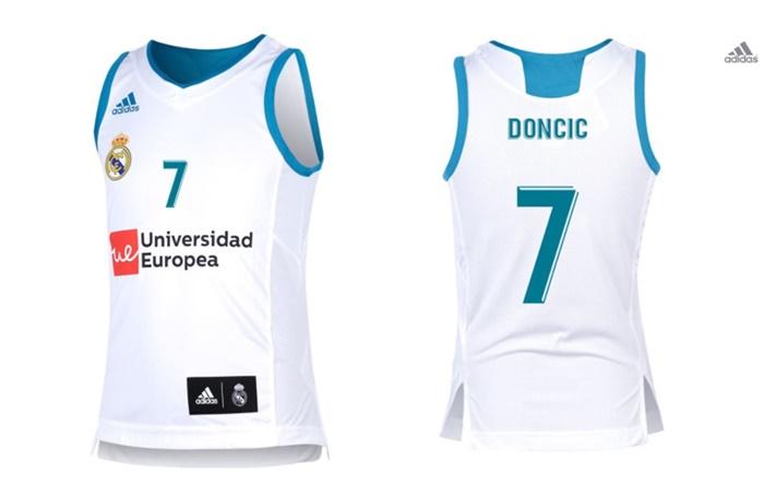 a2afe86b48b8b Camiseta Niñ  Réplica Luka Doncic  7  R. Madrid 2017 18 (1ª Equipación)