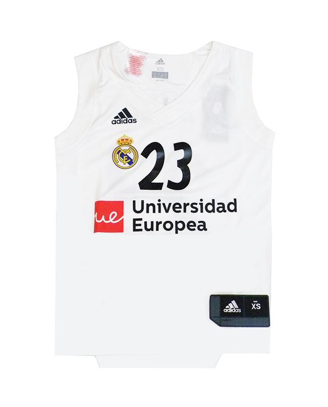 Camiseta Niño Réplica Sergio Llull  23  R. Madrid 2018 19 (1ª Equipación) a77eb6fb35659