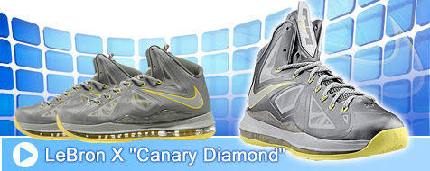Lebron X Canary Diamond
