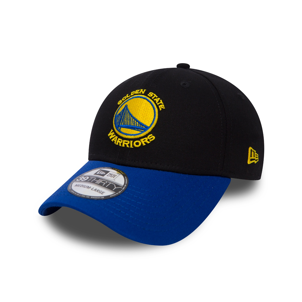 a18739631f52b New Era Black Base Golden State Warriors 39THIRTY