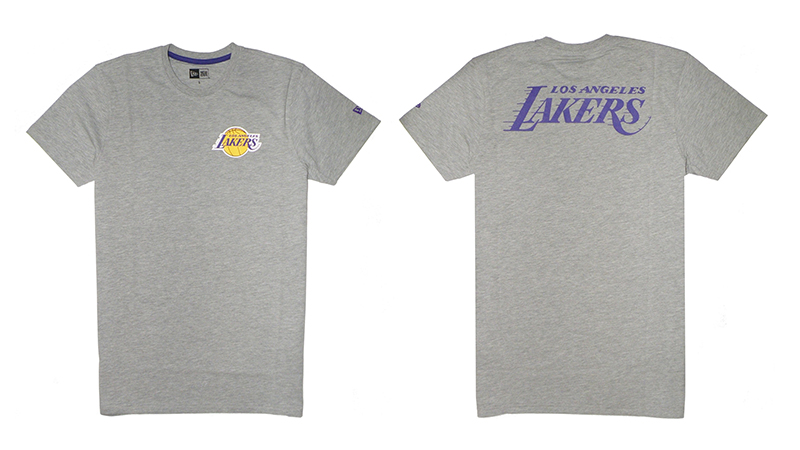 New Era Los Angeles Lakers LGH Tip Off Chest N Back Tee 5655a1fce405d