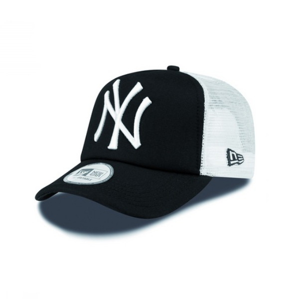 New Era NY Yankees Clean A Frame Trucker (black white) 885559493336