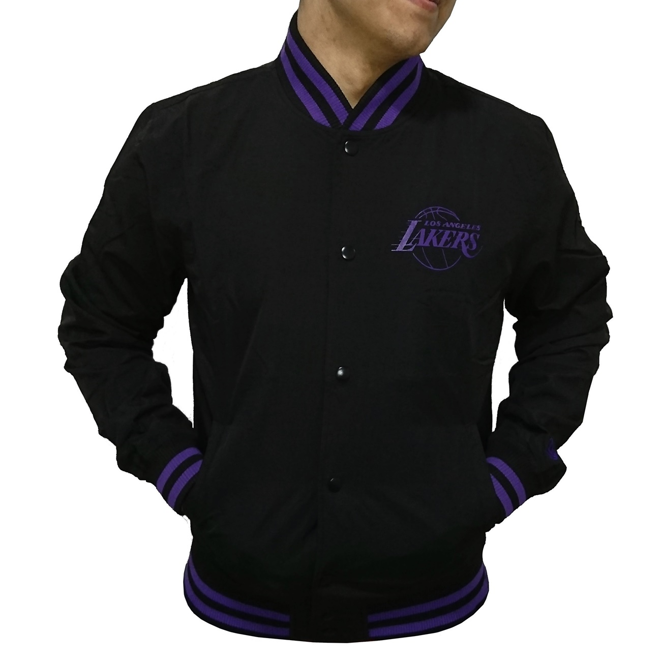 e3ecca51c6522 New Era Team Los Angeles Lakers Pop Logo Varsity Jacket