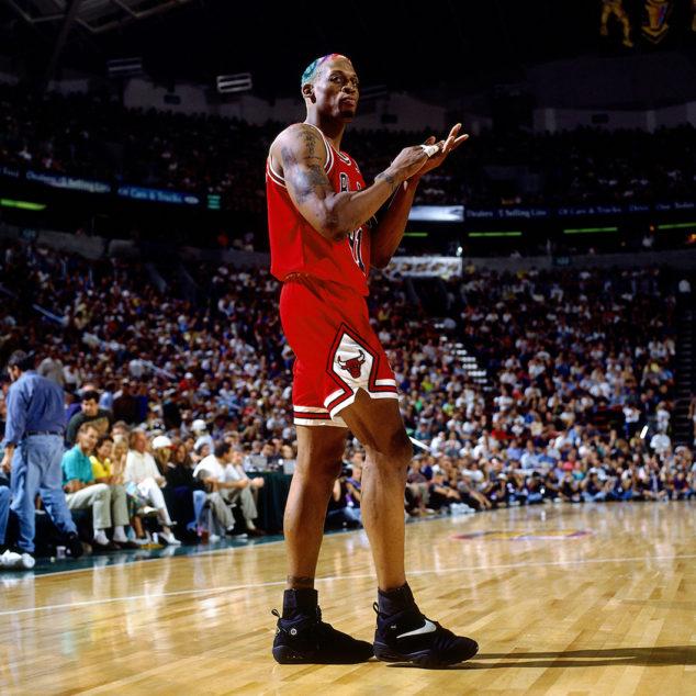 """Nike Air Shake Ndestrukt Dennis Rodman """"Away"""" (001)"""