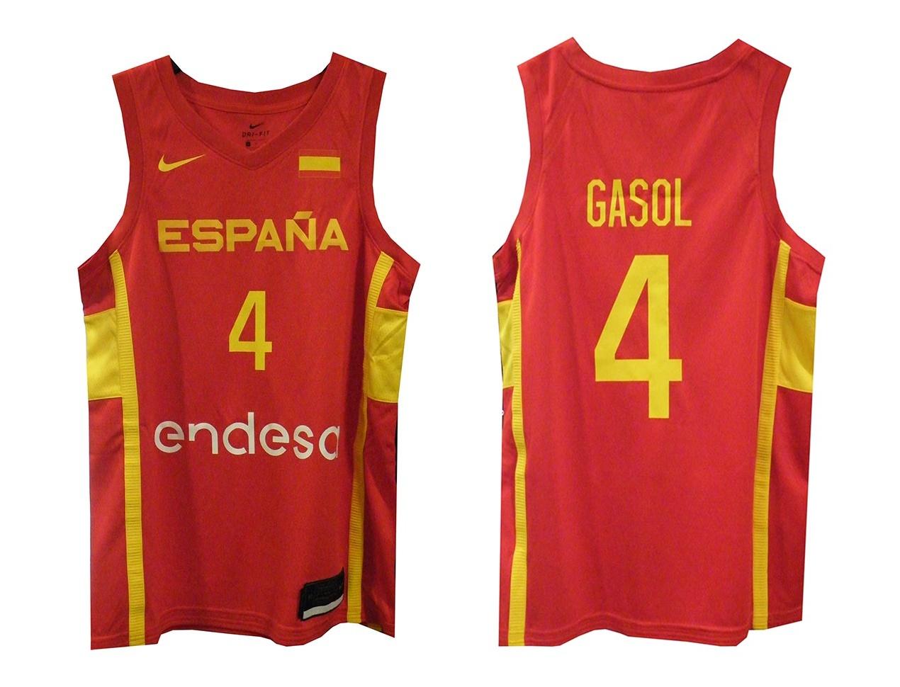 Nike Camiseta Replica Selección Española de Baloncesto #4 ...