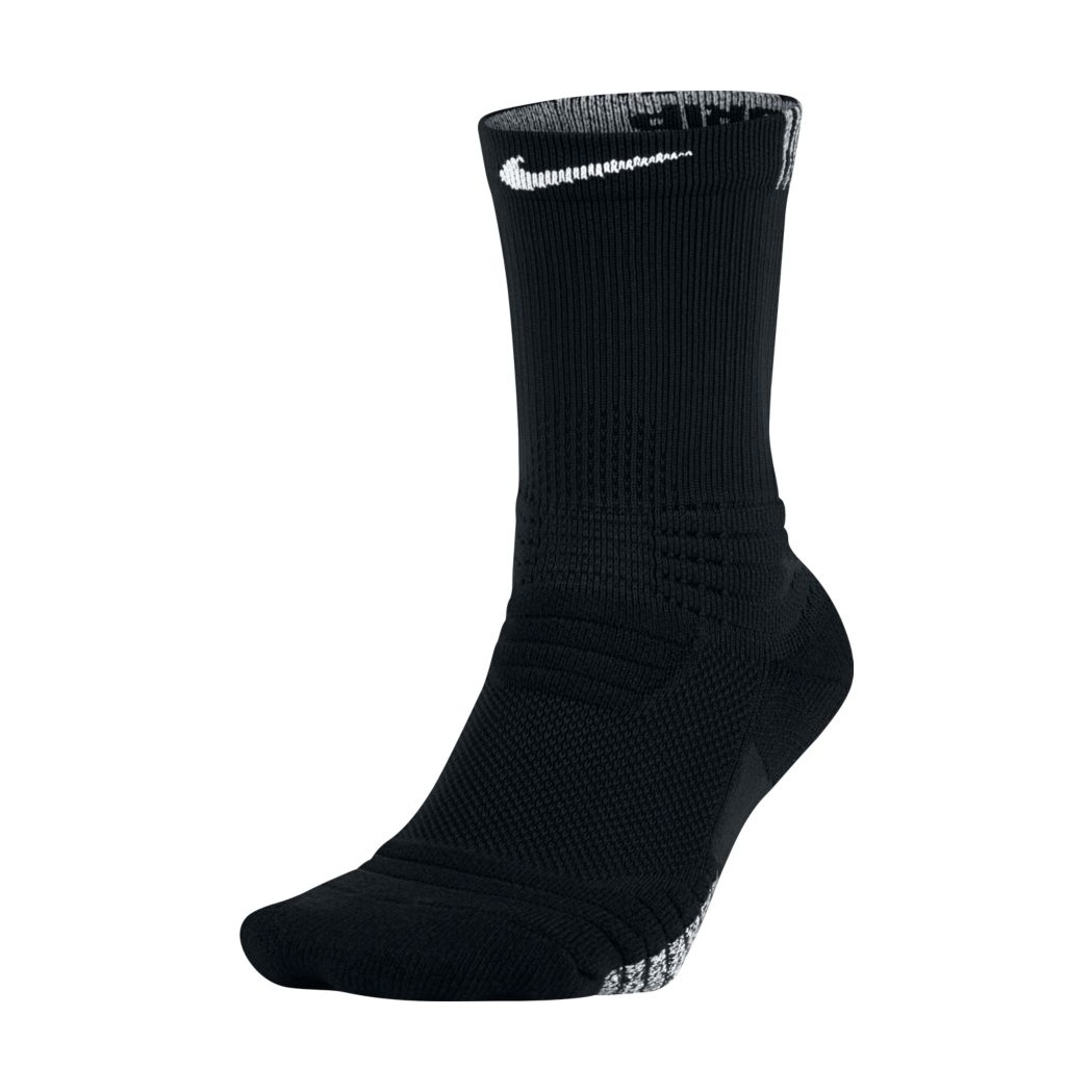 Nike Grip Versatility Crew Basketball Socks (010/black ...