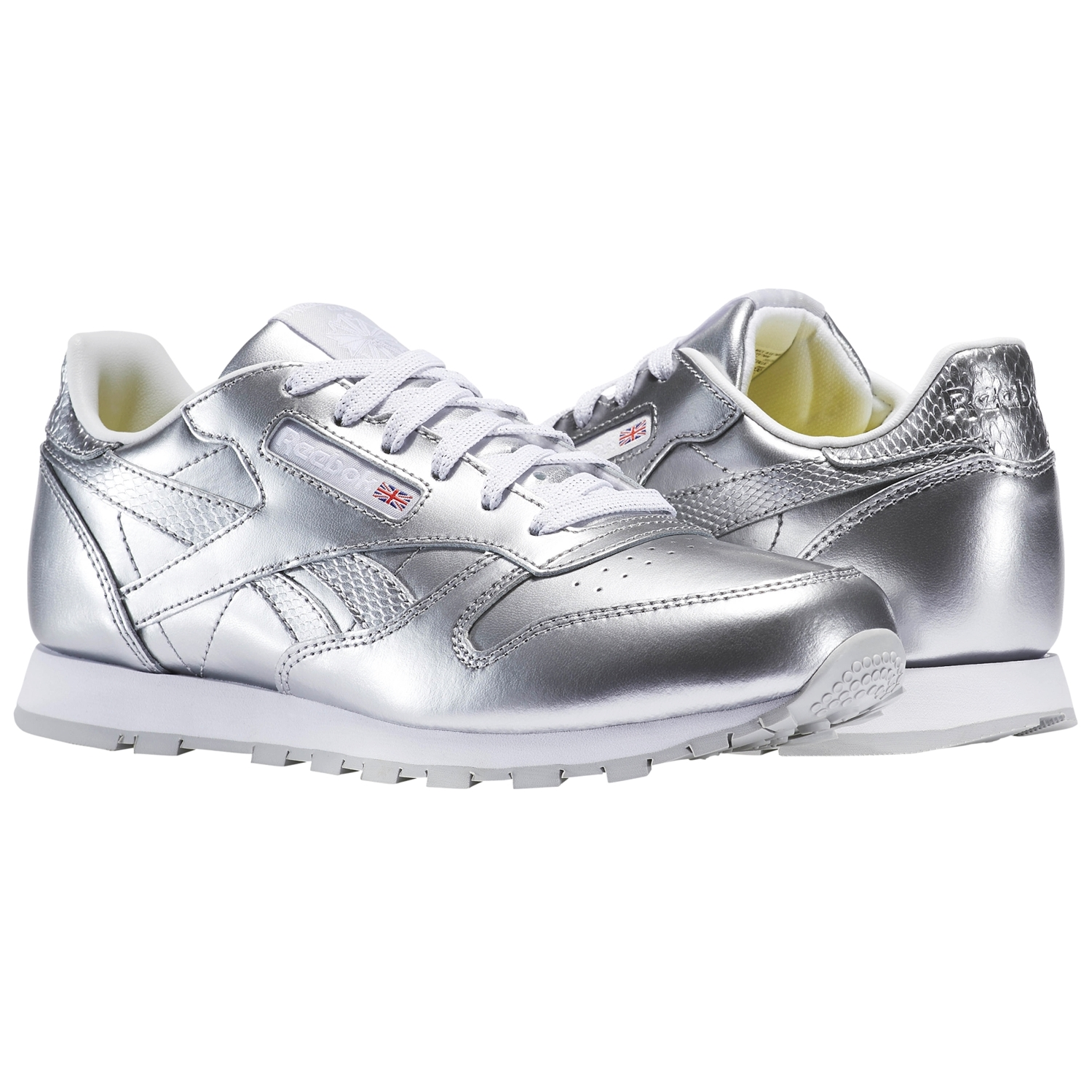0ef5c669b8b Reebok Classic Leather Metallic Silver Junior