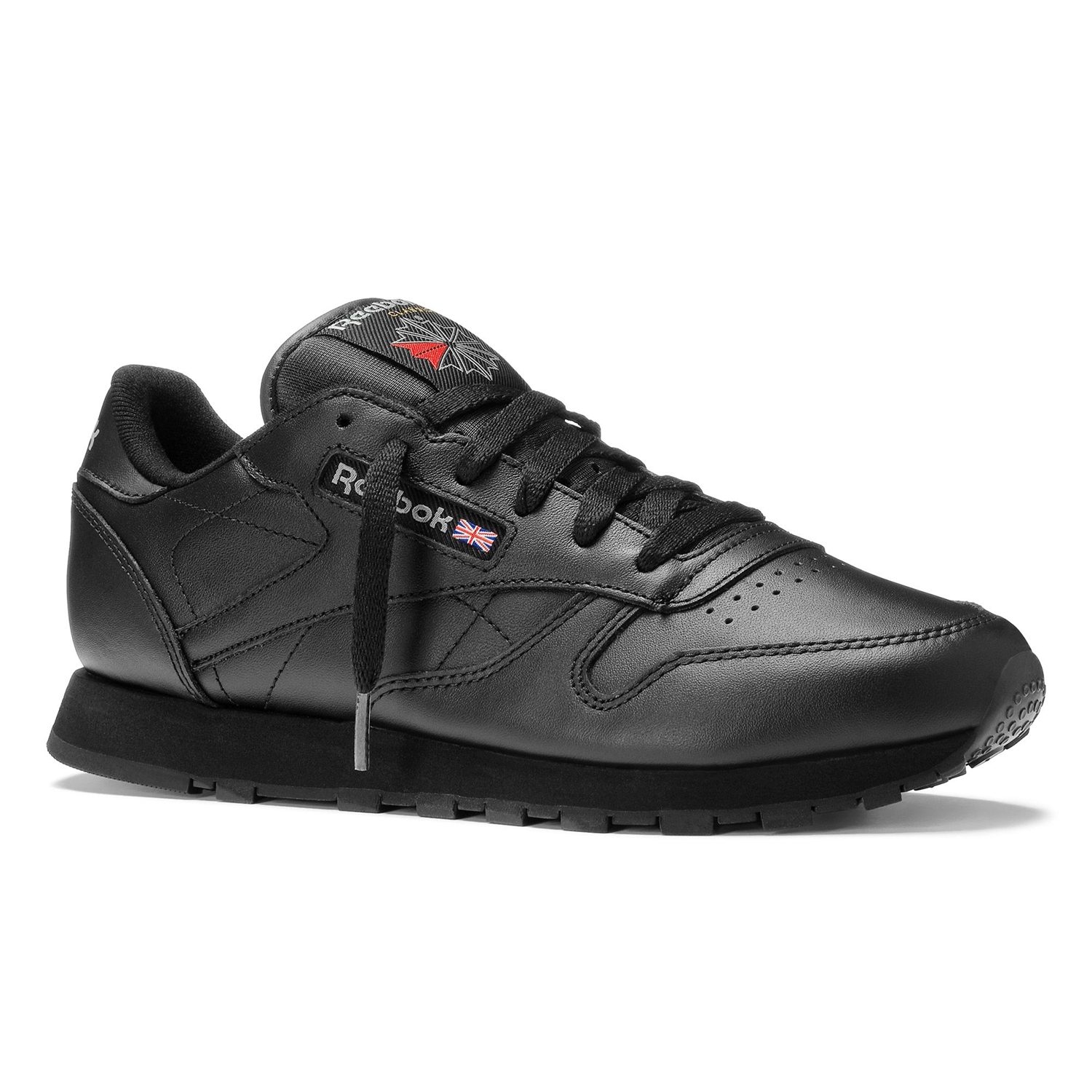 reebok classic leather mujer negro. Black Bedroom Furniture Sets. Home Design Ideas