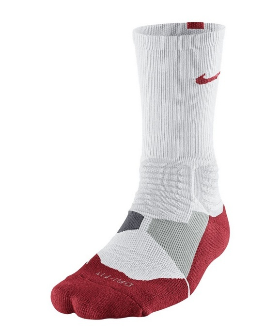 new products ce077 6d618 Calcetines Nike Hyper Elite Basket Crew (160/blanco/rojo/gris)